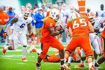 RB Duke Johnson runs for a Miami first down.  Gators vs Miami.  9-7-13.