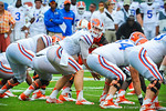 QB Jeff Driskel calls out the play.  Gators vs Miami.  9-07-13.