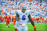 DL Dante Fowler Jr. dancing.  Gators vs Miami.  9-07-13.
