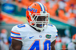 LB Jarrad Davis.  Gators vs Miami.  9-07-13.