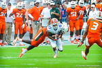 WR Solomon Patton catches the ball and takes off downfield.  Gators vs Miami.  9-07-13.