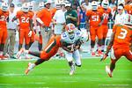 WR Solomon Patton catches the ball and takes off downfield.  Gators vs Miami.  9-07-13.