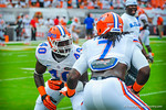 Linebackers Jarrad Davis and Ronald Powell.  Gators vs Miami.  9-07-13.