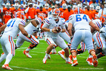 QB Jeff Driskel hands off the ball to RB Matt Jones.  Gators vs Miami.  9-07-13.
