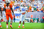 LB Michael Taylor.  Gators vs Miami.  9-07-13.