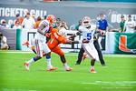 DB Marcus Roberson returns the punt.  Gators vs Miami.  9-07-13.