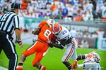 DB Marcus Maye makes the tackle.  Gators vs Miami.  9-07-13.