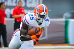 FB Gideon Ajagbe.  Gators vs Miami.  9-07-13.
