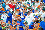 A gator fan cheers on her team.  Gators vs Miami.  9-07-13.