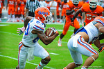 WR Solomon Patton runs around the outside.  Gators vs Miami.  9-07-13.