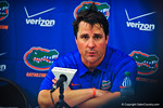 Coach Will Muschamp at the post-game press conference.  Gators vs Miami.  9-07-13.