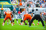 QB Jeff Driskel prepares to snap the ball.  Gators vs Miami.  9-07-13.