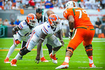 DL Damien Jacobs.  Gators vs Miami.  9-07-13.