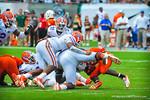 The Gator defense makes the stop.  Gators vs Miami.  9-07-13.