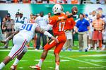 QB Stephen Morris throws the ball.  Gators vs Miami.  9-07-13.