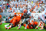 RB Matt Jones is tackled.  Gators vs Miami.  9-07-13.