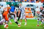 Driskel prepares to snap the ball.  Gators vs Miami.  9-07-13.