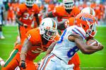 WR Solomon Patton runs around the outside.  Gators vs Miami.  9-07-13.