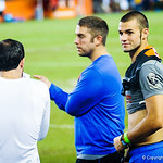 Florida QB commit Will Grier watches from the sideline during Friday Night Lights on July 26, 2013.