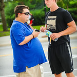 Florida 2015 tight end Garrett Williams interviews with Andrew Spivey before Friday Night Lights at Ben Hill Griffin Stadium on Friday July 26, 2013.