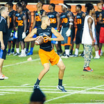 2014 QB Feleipe Franks participates in a drill during Friday Night Lights at Ben Hill Griffin Stadium on July 26, 2013.