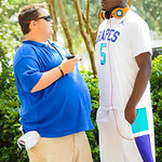 2015 outside linebacker Jeffrey Holland talks with Gator Country's Andrew Spivey before Friday Night Lights on July 26, 2013.