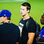 Florida 2015 tight end Garrett Williams, center, watches sideline during Friday Night Lights on July 26, 2013.