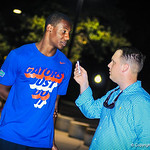 2014 outside linebacker Richard Yeargin III gives Gator Country an interview following Friday Night Lights on July 26, 2013.
