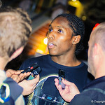 2014 wide receiver Adoree' Jackson gives an interview following Friday Night Lights on July 26, 2013.