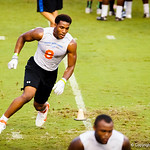 2015 defensive end Byron Cowart participates in a drill during Friday Night Lights on July 26, 2013.