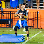 Florida QB commit Will Grier participates in a drill during Friday Night Lights at Ben Hill Griffin Stadium on July 26, 2013.