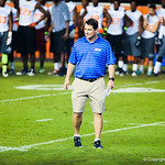 Gator head coach Will Muschamp walks the field during Friday Night Lights on July 26, 2013.