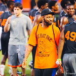Keiwan Ratliff hangs out sideline during Friday Night Lights on July 26, 2013.