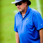 Gator coaches watch on during the drills at Friday Night Lights at Ben Hill Griffin Stadium on Friday July 26, 2013.