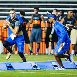 Chirs Leak urges on Florida QB commit Will Grier during Friday Night Lights on July 26, 2013.