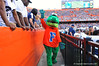 Albert was still in high hopes trying to get the fans and photographers apparently into the game.  Florida Gators vs Georgia Southern Eagles.  Gainesville, FL.  November 23, 2013.
