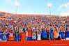 The Florida Gator faithfull fans start a wave around the stadium in the third quarter.  Florida Gators vs Georgia Southern Eagles.  Gainesville, FL.  November 23, 2013.