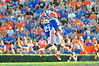 Florida Gator DB Jabari Gorman jumps in an effort to make the interception but is unable to come down with it in the second quarter.  Florida Gators vs Georgia Southern Eagles.  Gainesville, FL.  November 23, 2013.