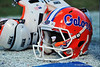 Florida Gator helmet.  Florida Gators vs Georgia Southern Eagles.  Gainesville, FL.  November 23, 2013.