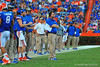 Florida Gator head coach WIll Muschamp watches on from the sideline during the fourth quarter.  Florida Gators vs Georgia Southern Eagles.  Gainesville, FL.  November 23, 2013.