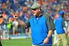 Florida Gator assistant head coach Brad Lawing.  Florida Gators vs Georgia Southern Eagles.  Gainesville, FL.  November 23, 2013.