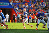 Florida Gator QB Skyler Mornhinweg looks downfield for an open receiver.  Florida Gators vs Georgia Southern Eagles.  Gainesville, FL.  November 23, 2013.