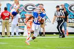 Florida wide receiver Solomon Patton takes the kickoff and runs up field.  Florida Gators vs Georgia Bulldogs.  EverBank Field.  November 2, 2013.