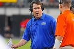 Florida head coach Will Muschamp yelling.  Florida Gators vs Georgia Bulldogs.  EverBank Field.  November 2, 2013.