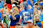 Florida fans cheering on their Gators.  Florida Gators vs Georgia Bulldogs.  EverBank Field.  November 2, 2013.