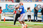 Florida QB Tyler Murphy drops back and looks for an open receiver in the first quarter.  Florida Gators vs Georgia Bulldogs.  EverBank Field.  November 2, 2013.