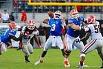 Florida QB Tyler Murphy throws downfield.  Florida Gators vs Georgia Bulldogs.  EverBank Field.  November 2, 2013.