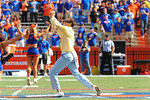 Former Florida Gator WR Chris Doering performs the Mr. 2-Bits skit before the start of the Vanderbilt Game.  Florida Gators vs Vanderbilt Commodores.  Gainesville, FL.  November 9, 2013.