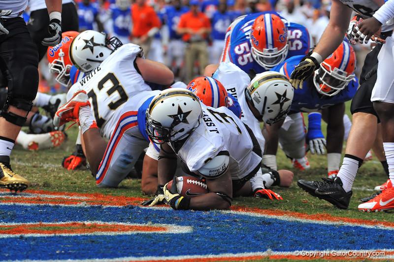 Florida Gators vs the Vanderbilt Commodores.  Homecoming Weekend.  November 9, 2013.