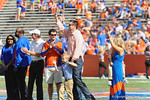 Former Florida Gator QB Rex Grossman is inducted into the Florida Hall of Fame prior to the start of the Homecoming game vs Vanderbilt.  Florida Gators vs Vanderbilt Commodores.  Gainesville, FL.  November 9, 2013.